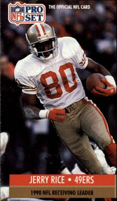 1991 Pro Set #11 Jerry Rice/NFL Receiving and/Receiving Yardage/Leader
