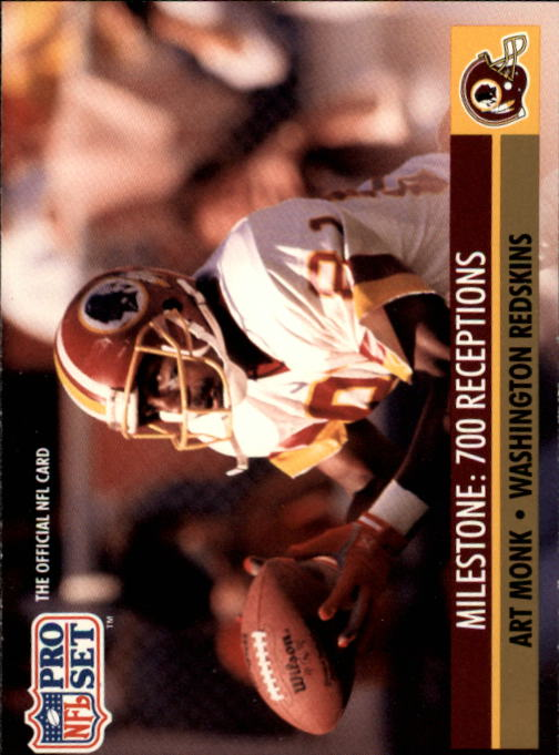 1991 Pro Set #22 Art Monk ML/700 Career Receptions
