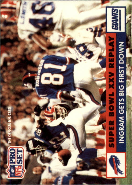 1991 Pro Set #50 Mark Ingram SB UER/(First repeated twice on back title)