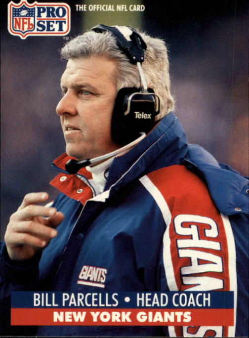 1991 Pro Set #72 Bill Parcells CO