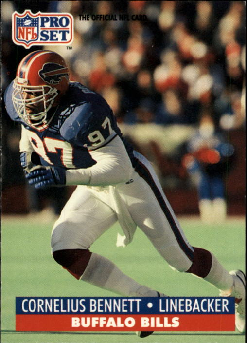1991 Pro Set #74A Cornelius Bennett/(NFLPA logo on back)