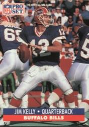 1991 Pro Set #78B Jim Kelly/(No NFLPA logo on back)