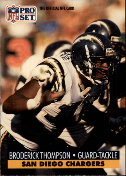 1991 Pro Set #647 Broderick Thompson