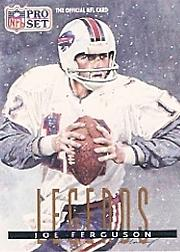 1991 Pro Set #694B Joe Ferguson LEG front image