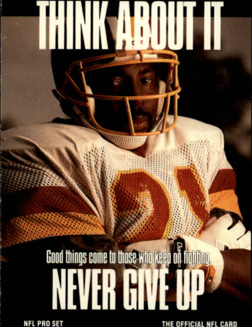1991 Pro Set #722 Earnest Byner/Never Give Up