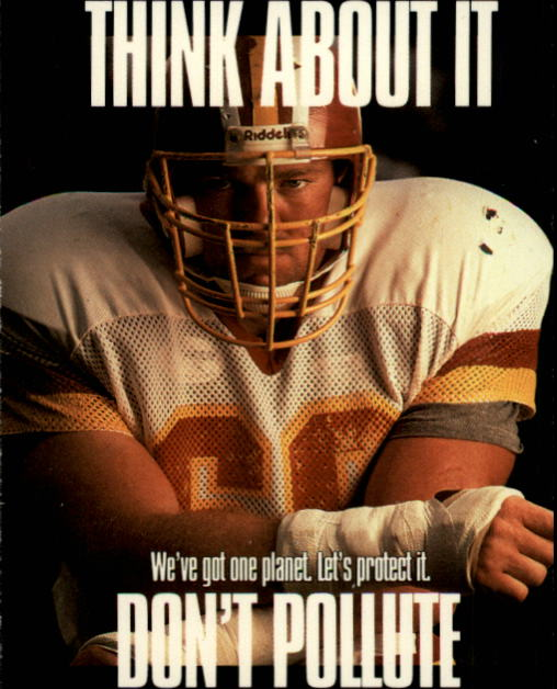 1991 Pro Set #724 Joe Jacoby/Don't Pollute