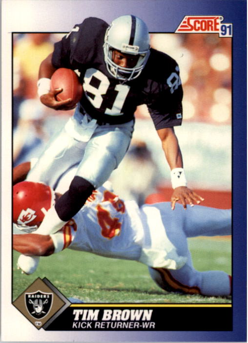 1991 Score #14 Tim Brown