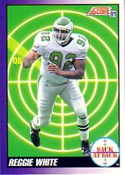 1991 Score #655 Reggie White SA ERR