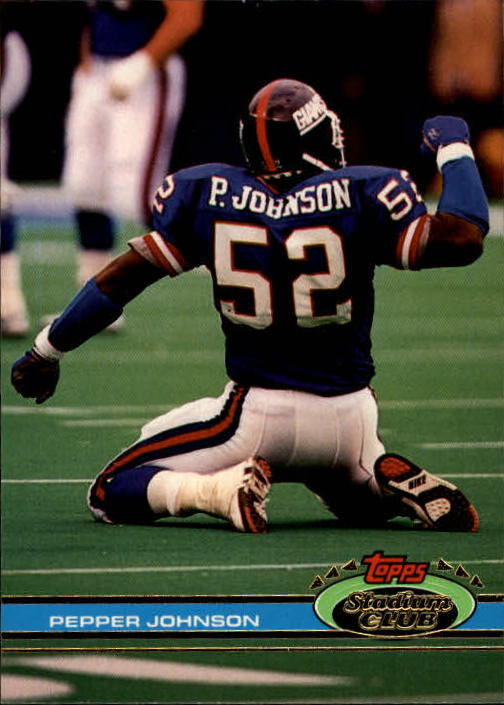 1991 Stadium Club #1 Pepper Johnson