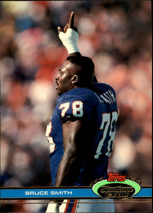 1991 Stadium Club #12 Bruce Smith