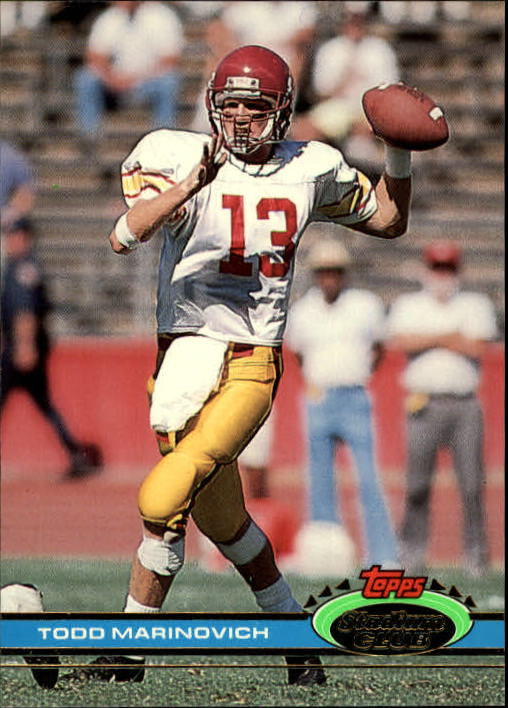1991 Stadium Club #48 Todd Marinovich RC