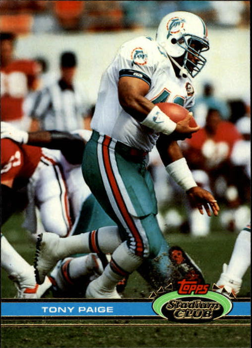 1991 Stadium Club #65 Tony Paige