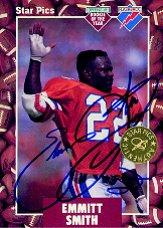 1991 Star Pics Autographs #20 Emmitt Smith FLB