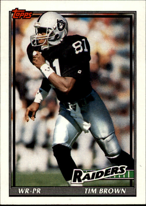 1991 Topps #85 Tim Brown