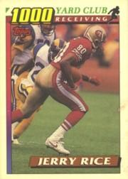 1991 Topps 1000 Yard Club #1 Jerry Rice