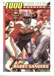1991 Topps 1000 Yard Club #2 Barry Sanders