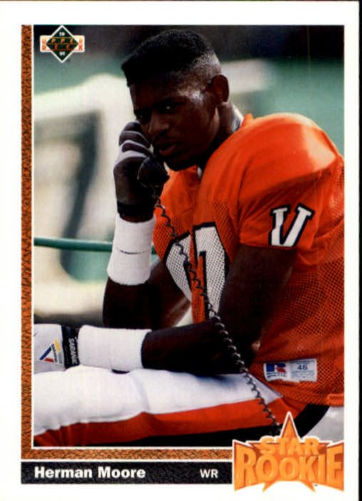 1991 Upper Deck #17 Herman Moore RC