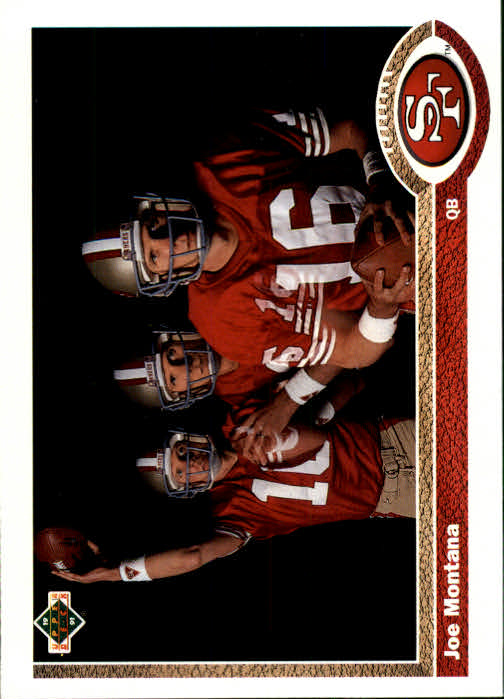 1991 Upper Deck #54 Joe Montana 3X UER