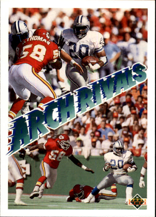 1991 Upper Deck #656 B.Sanders/D.Thomas AR