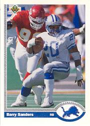 1991 Upper Deck #500P Barry Sanders Promo