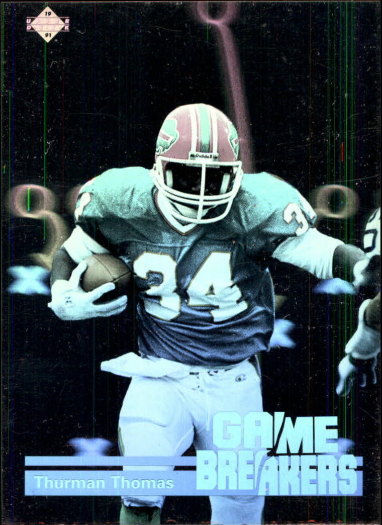 1991 Upper Deck Game Breaker Holograms #GB2 Thurman Thomas