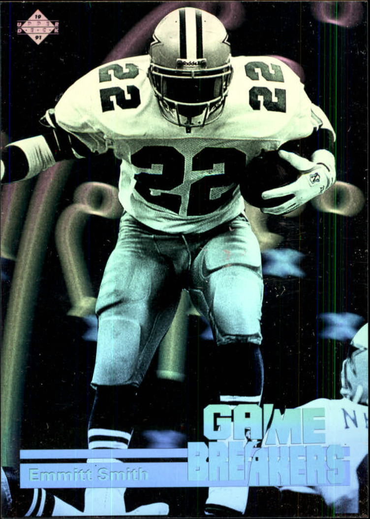 1991 Upper Deck Game Breaker Holograms #GB5 Emmitt Smith