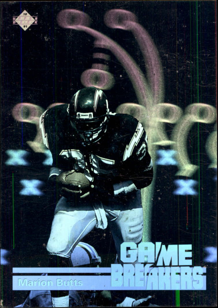 1991 Upper Deck Game Breaker Holograms #GB7 Marion Butts