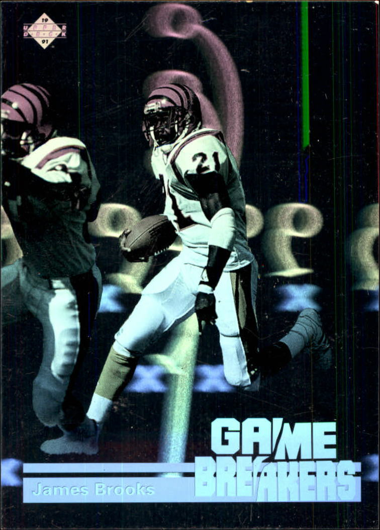 1991 Upper Deck Game Breaker Holograms #GB8 James Brooks