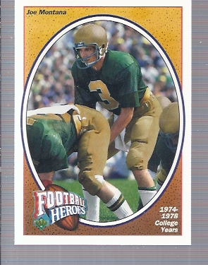 1991 Upper Deck Joe Montana Heroes #1 Joe Montana/1974-78 College Years