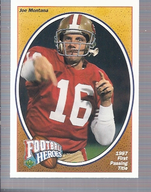 1991 Upper Deck Joe Montana Heroes #4 Joe Montana/1987 1st Passing Title