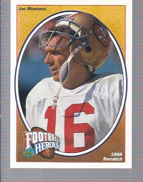 1991 Upper Deck Joe Montana Heroes #5 Joe Montana/1988 Rematch