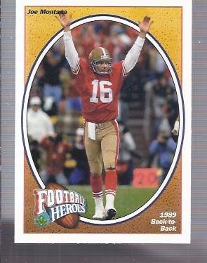 1991 Upper Deck Joe Montana Heroes #7 Joe Montana/1989 Back-to-Back