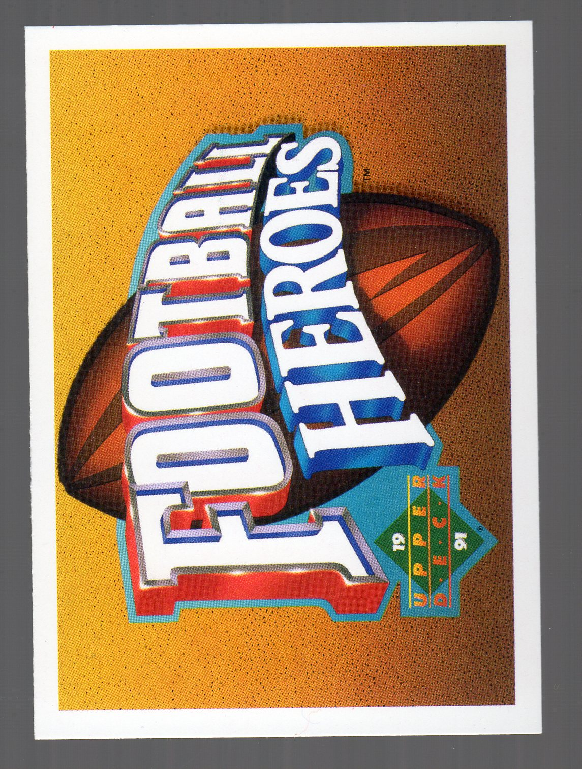 1991 Upper Deck Joe Montana Heroes #NNO Title/Header Card SP