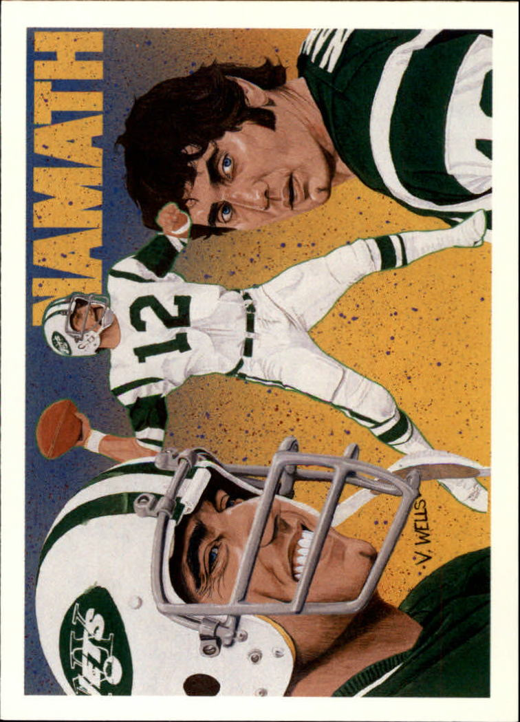 1991 Upper Deck Joe Namath Heroes #18 Joe Namath CL 10-18