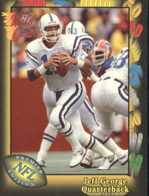1991 Wild Card #1 Jeff George