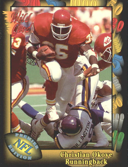 1991 Wild Card #5 Christian Okoye