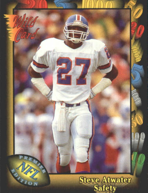 1991 Wild Card #6 Steve Atwater