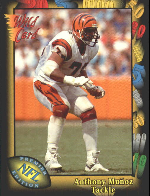 1991 Wild Card #7 Anthony Munoz