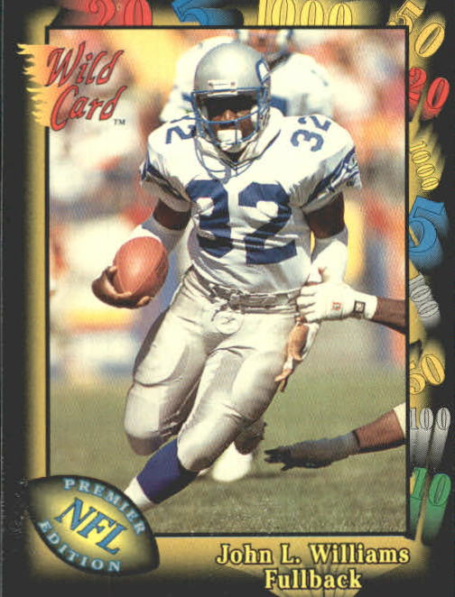 1991 Wild Card #14 John L. Williams