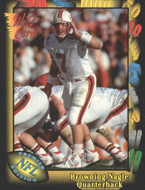 1991 Wild Card #44 Browning Nagle RC