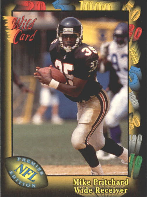 1991 Wild Card #69 Mike Pritchard RC