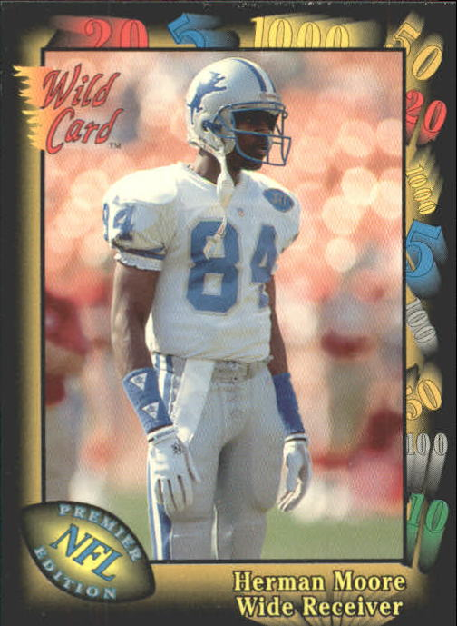 1991 Wild Card #106 Herman Moore RC