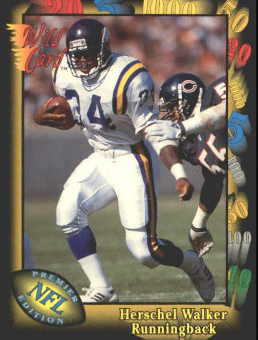 1991 Wild Card #112 Herschel Walker