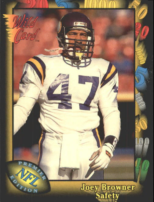1991 Wild Card #115 Joey Browner