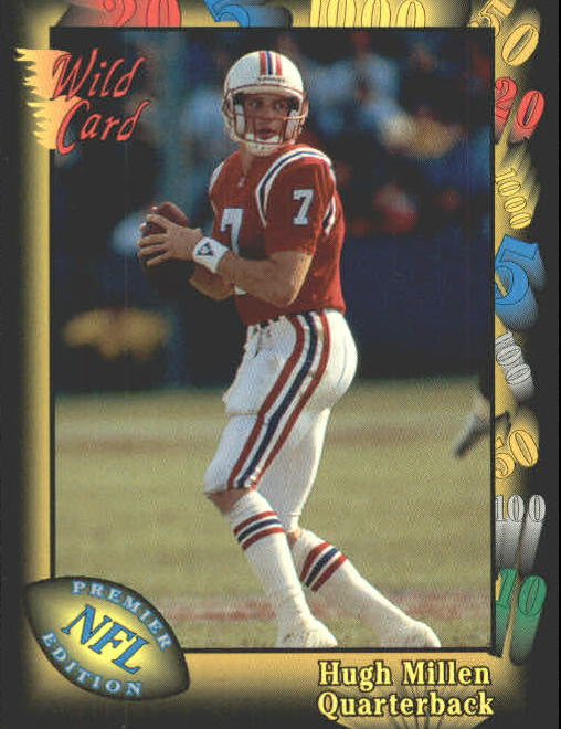 1991 Wild Card #121 Hugh Millen RC