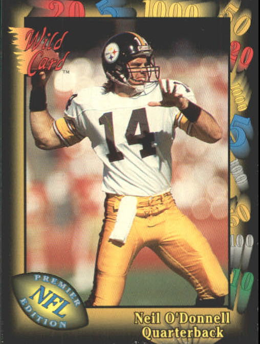 1991 Wild Card #125 Neil O'Donnell RC