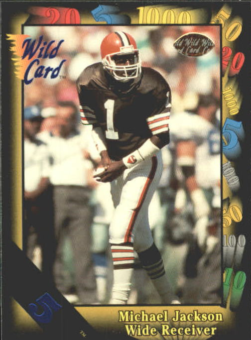1991 Wild Card #131 Michael Jackson WR RC