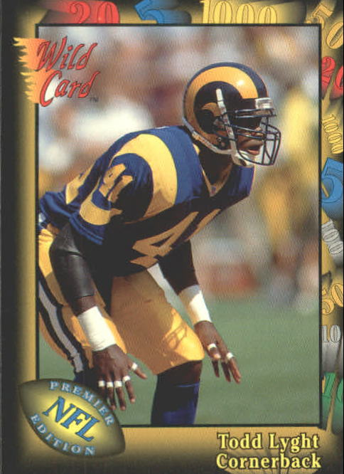 1991 Wild Card #155 Todd Lyght RC