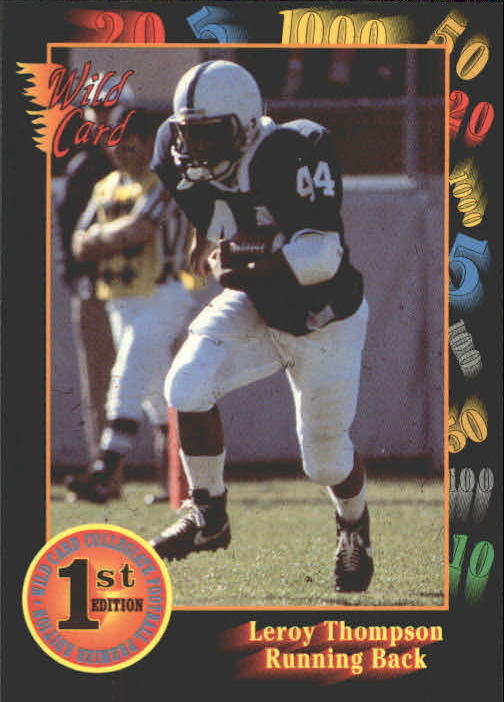 1991 Wild Card Draft #27 Leroy Thompson