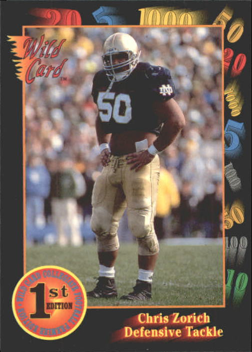 1991 Wild Card Draft #50 Chris Zorich